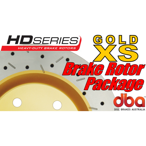 G8 GT DBA XS Brake Rotor Package - Drilled & Slotted