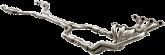 GTO Kooks 24102400 Stainless 1 7/8in x 3in Longtube Headers w/2 EA- 12in & 1 EA- 18in Extension Harnesses