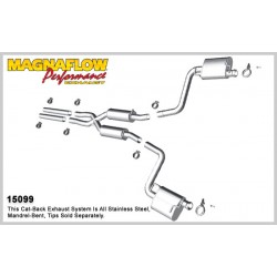 Camaro 15099 Stainless Dual Split Rear Exit Catback Exhaust