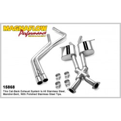 GTO 15868 Stainless Dual Split Rear Exit Catback Exhaust