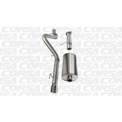 Trailblazer Corsa 14256 3.0in Sport Cat-Back Single Rear Exit w/Single 4.0in Polished Pro-Series Tips