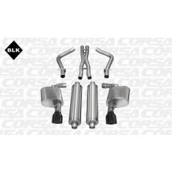 LX Corsa 14463BLK 2.75in Sport Cat-Back Dual Rear Exit w/Single 4.5in Black Pro-Series Tips