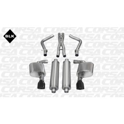 LX Corsa 14464BLK 2.75in Xtreme Cat-Back Dual Rear Exit w/Single 4.5in Black Pro-Series Tips