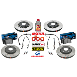 05-06 GTO Slotted/Drilled Brake Package - Black