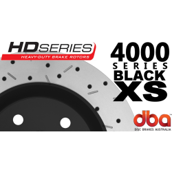 DBA42029BLKXS 4000 Series Slotted and Drilled Rear Rotors Black - 324mm