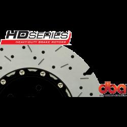 DBA52604BLKXS 5000 Series Slotted and Drilled Front Rotors Black Camaro SS/G8 GXP