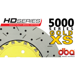 DBA52020GLDXS 5000 Series Slotted and Drilled Front Rotors Gold GTO 05