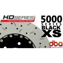 DBA52020BLKXS 5000 Series Slotted and Drilled Front Rotors Black GTO 05