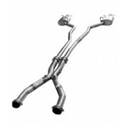 CTS Kooks 6757-OX-STOCK Stainless 3 x 2 1/2 Off-Road Mid X-Pipe For OEM Cat-Back For Stock Exhaust 2009-2014 6.2L/ LS9