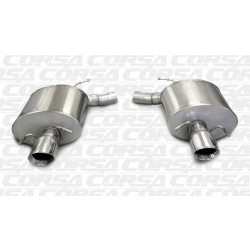 CTS Corsa 14940 2.5in Touring Axle-Back Dual Rear Exit w/Single 4.0in Polished Pro-Series Tips