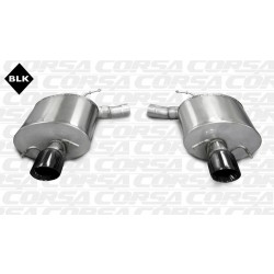 CTS Corsa 14940BLK 2.5in Touring Axle-Back Dual Rear Exit w/Single 4.0in Black Pro-Series Tips