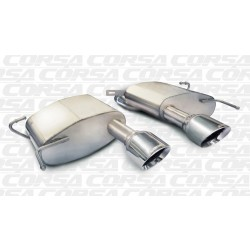 CTS Corsa 14943 2.5in Touring Axle-Back Dual Center Rear Exit w/Single 4.5in Polished Pro-Series Tips