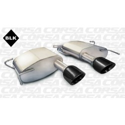 CTS Corsa 14943BLK 2.5in Touring Axle-Back Dual Center Rear Exit w/Single 4.5in Black Pro-Series Tips
