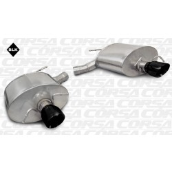 CTS Corsa 14948BLK 2.5in Sport Axle-Back Dual Rear Exit w/Single 3.5in Black Pro-Series Tips