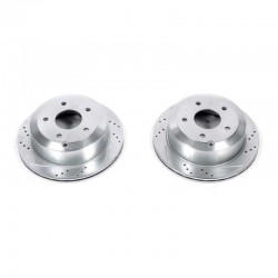 Power Stop 05-06 Pontiac GTO Rear Evolution Drilled & Slotted Rotors - Pair
