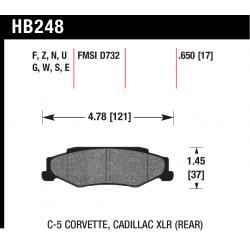 HB248W.650 Rear Hawk DTC-30 Brake Pads