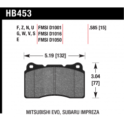 HB453EE.585 Front Hawk Blue 42 Brake Pads