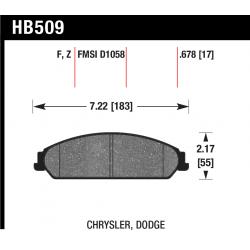 HB509N.678 Front Hawk HP Plus Brake Pads