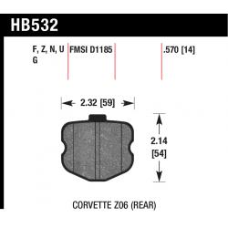 HB532V.570 Rear Hawk DTC-50 Brake Pads