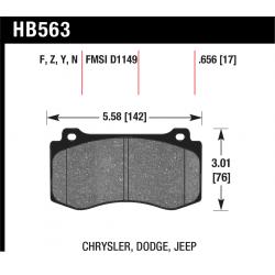 HB563Y.656 Front Hawk LTS Light Truck Brake Pads