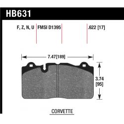 HB631U.622 Front Hawk DTC-70 Brake Pads