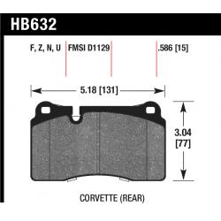 HB632U.586 Rear Hawk DTC-70 Brake Pads