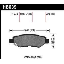 HB639G.645 Rear Hawk DTC-60 Brake Pads