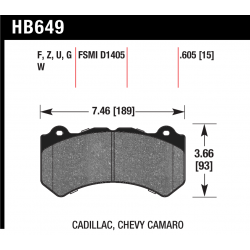 HB649W.605 Front Hawk DTC-30 Brake Pads