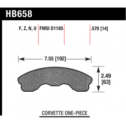 HB658Z.570 Front Hawk Ceramic Brake Pads