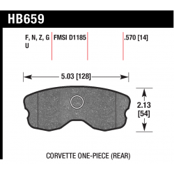 HB659U.570 Rear Hawk DTC-70 Brake Pads