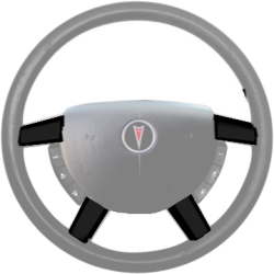 GTO Steering Wheel Trim - Black