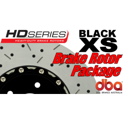 G8 GXP DBA XS Brake Rotor Package - Drilled & Slotted - Black