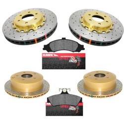 05-06 GTO Slotted/Drilled Brake Package - Gold