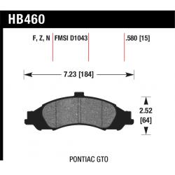 Hawk HB460x.580 Front Brake Pads - Street