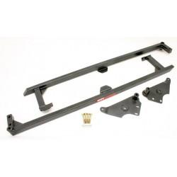 GTO BMR SFC007H Unibody Brace - Weld-On Boxed Undercar Brace - Black Hammertone