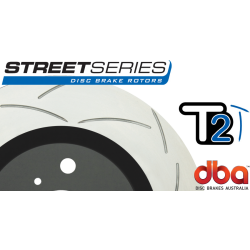DBA2020S Street Series Slotted Front Rotors Black GTO 05