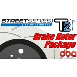 GTO DBA T2 Street Series Slotted Brake Rotors - 2005-2006