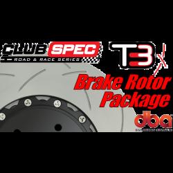 G8 GXP DBA T3 Brake Rotor Package - Slotted - w/Camaro Caliper Upgrade