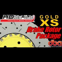 GTO DBA XS Slotted & Drilled Brake Rotors - All 4 - 2005-2006