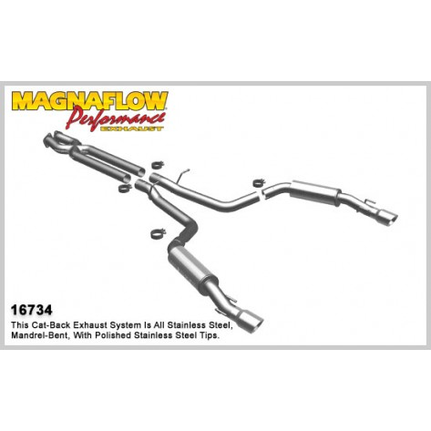 GTO 16734 Competition Series Dual Split Rear Exit Catback Exhaust