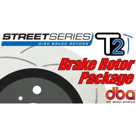 G8 GT DBA T2 Brake Rotor Package - Slotted