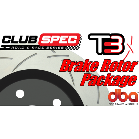 G8 GT DBA T3 Brake Rotor Package - Slotted