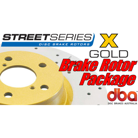 G8 GT DBA X Brake Rotor Package - Drilled & Slotted