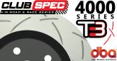 DBA42029S 4000 Series Slotted Rear Rotors Black - 324mm