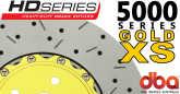 DBA52604GLDXS 5000 Series Slotted and Drilled Front Rotors Gold Camaro SS/G8 GXP
