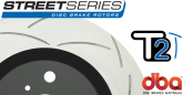 DBA2028S Street Series Slotted Front Rotors Black G8 GT
