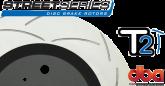 DBA2020S Street Series Slotted Front Rotors Black GTO 05