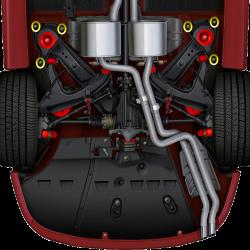 GTO 48270-HK Rear Subframe Mount Bracket Bolt Kit (Set of 6) (Replaces 92138270 x6)