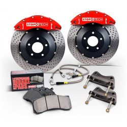 Stoptech 10+ Camaro SS Front BBK w/ Red ST-60 Calipers Drilled 380x32mm Rotors Pads and SS Lines