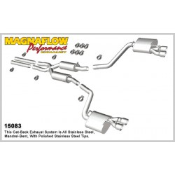 Charger 15083 Street Series Dual Split Rear Exit Catback Exhaust